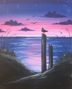 Get event details for Sat Apr 08, 2017 8:00-10:00PM - Ocean Serenity Dusk. Join the paint and sip party at this South Barrington, IL studio.