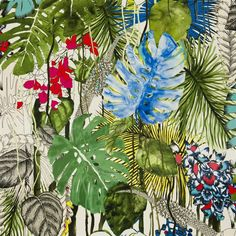 jardin exo'chic - bougainvillier fabric | Christian Lacroix