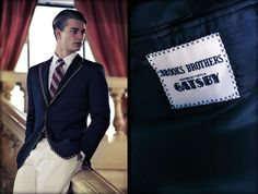 The Great Gatsby Collection Tipped Blazer, Brooks Brothers : Ens. 1228 €