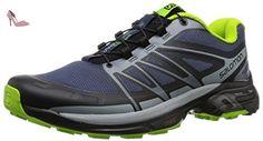 SALOMON Wings Pro 2 Chaussures de trail Homme, Bleu, 45 1/3 - Chaussures salomon (*Partner-Link)