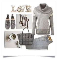 """""""totes love it"""" by collagette ❤ liked on Polyvore featuring Versace, Tory Burch, women's clothing, women's fashion, women, female, woman, misses, juniors and totebags"""