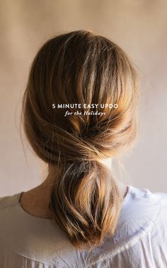 5 minute easy updo for the holidays