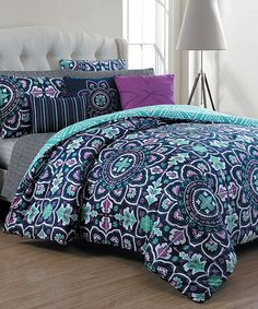 This Navy Ibiza Quilt Set is perfect! #zulilyfinds