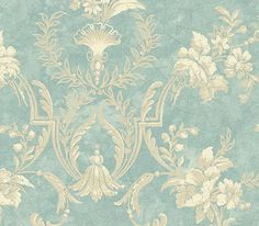 Interior Place - Baby Blue Floral Damask Wallpaper, 23.12 CAD (http://www.interiorplace.com/baby-blue-floral-damask-wallpaper/)