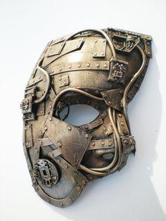 Phantom Of The Opera-Like Mask | techno phantom mask, bronze by ~richardsymonsart on deviantART