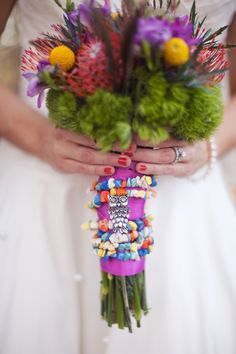 bright and colorful bouquet wrappings // photo by Melissa Jill