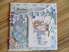 Handmade by Marleen: IJskoud kerstkaartje