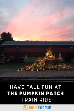 The Pumpkin Patch train ride needs to be on your bucket list if you love fall fun for the whole family! The 40-minute train ride will show gorgeous scenery and make a pitstop at a pumpkin patch where you can pick and decorate a pumpkin.