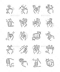 Buy Gesture Line Icons by PalauDesign on GraphicRiver. UI Pixel Perfect Well-crafted Vector Thin Line Icons Grid for Web Graphics and Apps with Editable Str. Design Websites, Online Web Design, Web Design Tutorials, Web Design Trends, Web Design Company, Web Design Inspiration, Icon Design, Logo Design, Design Design