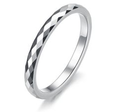 2mm Women's Multi-faceted Tungsten Wedding Band Ring