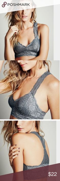 fp racerback bralette •  Brand:  Free People •  Galloon Lace Racerback •  Fabric:  90% Nylon, 10% Spandex •  Care:  Hand wash cold, lay flat to dry Free People Intimates & Sleepwear Bras