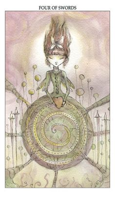One of my favorite decks four of swords - joie de vivre tarot - paulina cassidy