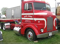 Old Pete  Red  Cabover  C.O.E. trucks