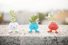 Dark Blue Oddish is Back!! Oddish Planter, Cuttest Gift, 3D Printed Planter, cute, monster, geekery, Home & Garden
