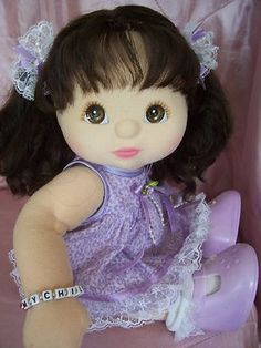 My Child Doll --- Aussie brunette ringlet pony, we have Would love to buy Clara another one. Custom Barbie, My Child Doll, Living Dolls, Baby Dolls, Dolls Dolls, Barbie House, Fabric Dolls, Doll Patterns, Vintage Dolls
