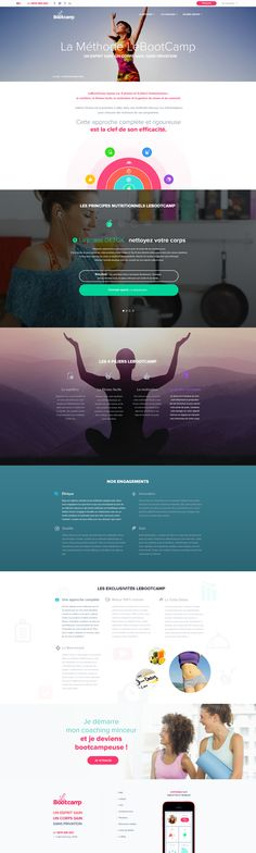 LeBootCamp.com - New design 2016 - Fitness - Sport - Coaching - Webdesign - UI - UX - Responsive Coaching, Fitness Sport, Ui Ux, Web Design, Lose Weight Quick, Page Layout, Training, Site Design