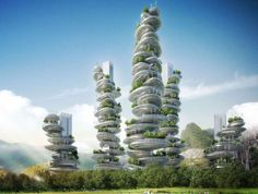 Architect firm Vincent Callebaut desigs eco-friendly futuristic 'farmscrapers', China - Mar 2013 - Solent News/REX
