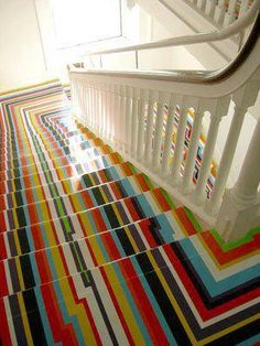 colorful stairs !!