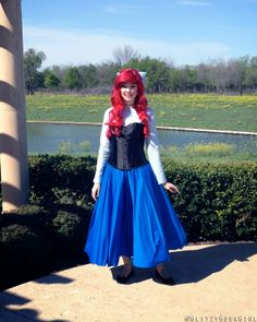 OMGLITZY: Tutorial: The Little Mermaid Ariel Cosplay. Would like to try and make a day version of this for when I go to Disney. Ariel Halloween Costume, Ariel Costumes, Disney Halloween, Cosplay Costumes, Disney Princess Dresses, Disney Dresses, Disney Princesses, Ariel Cosplay, Disney Cosplay