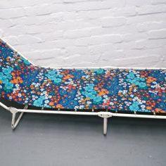 Vintage sun lounger from vintageactually.co.uk