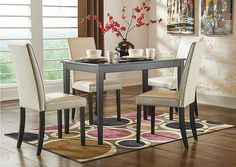 JUST $289.99 for the Kimonte Rectangular Dining Table w/ 4 Ivory Chairs?? Check out this deal at kemperfurnitureinc.com ! 606-439-2400