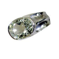 ravishing Green Amethyst Silver Green Ring india  L-1in US 5678