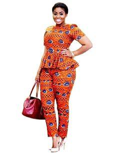 Online Buy Wholesale african print leggings from China african . African Print Pants, African Print Fashion, African Fashion Dresses, Fashion Prints, African Attire, African Wear, African Dress, Style Africain, Trendy Ankara Styles
