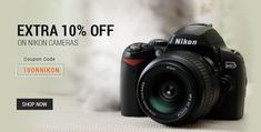 Get extra 10% off on Nikon Digital Cameras on cart value of Rs 5000 and above.    How to get additional 10% off on all Nikon Digital Cameras :  1.Visit your favorite Nikon Digital Camera Store  2.Choose your Favorite one  3.Click On Buy Now. 4.Use coupon code 10ONNIKON to get additional 10% off  5.Pay the Amount    Note:- Offer valid upto 16 Jul 2014. Max discount upto Rs 1500. Not applicable on Seller Products, Promoted Items.