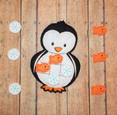 Penguin Felt Tic Tac Toe Board