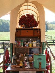 Chuck Wagon - A Farm Girls Camping Concession Stand Dutch Oven Cooking, Cast Iron Cooking, Chuck Box, Independance Day, Campaign Furniture, Camping Glamping, Camping Ideas, Cowboy Girl, Covered Wagon