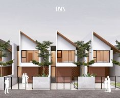 x 14 Kranggan Residence Proposed design . The trend for most housing developments is to build maximize land as possible to increase the… Modern Townhouse, Townhouse Designs, Duplex House Design, Duplex House Plans, Loft Design, Modern House Design, Villa Design, Facade Design, Architecture Design