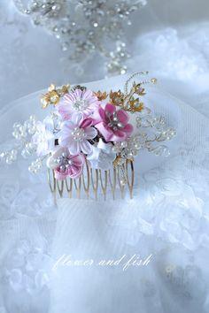 Wedding Accessories-bridal hair comb-flower hair comb