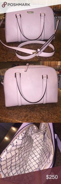 Kate spade purse‼️ Purple Kate spade purse, used! In great condition slight wear on the inside! kate spade Bags Shoulder Bags