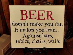 Beer makes you lean!