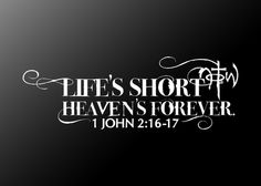 life is short, but the after-party is divine. don't waste your time here with loveless thoughts and actions. heaven is forever, you can start celebrating that now. Bible Quotes, Me Quotes, Bible Verses, Scriptures, Qoutes, Sunday Quotes, Wall Quotes, Quotations, Cool Words