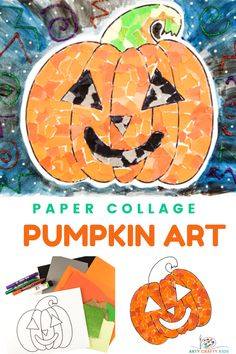 Paper Collage Pumpkin Art with the kids this Halloween. Our pumpkin template features a simple, fun and friendly jack-o-lantern design that's perfect for kids of all ages, particularly preschoolers, to complete and make it their own. Halloween Crafts For Kids To Make, Halloween Art Projects, Easy Crafts For Kids, Halloween Kids, Ghost Crafts, Spider Crafts, Pumpkin Template, Pumpkin Printable, Pumpkin Art