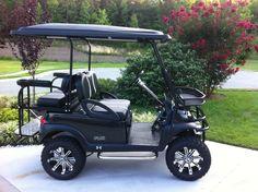 golf cart, club car, Triad Golf Carts, customize, custom golf cart, wheels/tires, Club Car Precedent, golf cart battery, golf cart batteries - Gallery of CELEBRITY Custom Carts