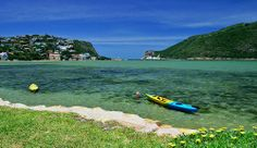 This is beautiful Knysna Lagoon in South Africa- view of The Heads from Leisure Isle... Seasons Greetings from South Africa!! Have a great day!