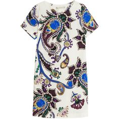 MARY KATRANTZOU Cameron Dress found on Polyvore featuring dresses, special occasion dresses, short sleeve cocktail dress, white special occasion dresses, white dress and cocktail dresses