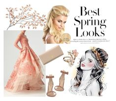 """Best spring looks"" by shoshie13 ❤ liked on Polyvore featuring Monique Lhuillier, Gianvito Rossi, H&M, Accessorize and Prada"