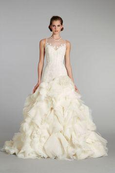 fall 2012 wedding dress Lazaro bridal gowns 3253
