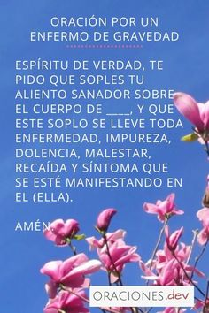 Spiritual Prayers, Spiritual Words, Prayers For Healing, Prayer For Peace, Prayer For Family, God Prayer, Spanish Inspirational Quotes, Inspirational Prayers, Prayer Scriptures