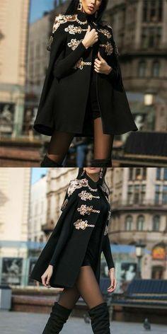 Classy Outfits, Pretty Outfits, Casual Outfits, Winter Coats Women, Coats For Women, Fall Coats, Women's Coats, Look Fashion, Korean Fashion