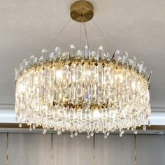 Chandelier Design, Drum Chandelier, Round Crystal Chandelier, Bubble, Chandelier In Living Room, Bathroom Design Luxury, Gladiolus, Led Lampe, Round Dining Table