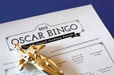 Oscar Bingo downloads - from 2012, but great ideas to work from