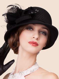 Elegant Lace Bowknot Fedora Hat