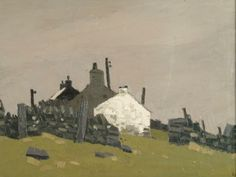 ۩۩ Painting the Town ۩۩ city, town, village house art - Sir Kyffin Williams | Cottages, Cesarea