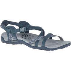 Womens Merrell Terran Lattice Ll Womens Sandals - Blue Nylons, Gore Tex Boots, Online Shopping, Textiles, Waterproof Shoes, Women's Feet, Shapewear, Leather Sandals, Black Shoes