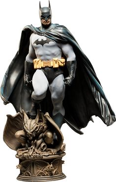 """Batman Premium Format™ Figure - His head can be switched out to one with shorter ears, eyes open, and a more grim expression. This is an amazing collection!  They are 23"""" tall. ($400)"""