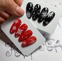 Christmas Nail Designs - My Cool Nail Designs Cute Christmas Nails, Xmas Nails, New Year's Nails, Christmas Nail Designs, Holiday Nails, Love Nails, Red Nails, Pretty Nails, Winter Christmas